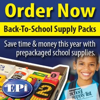 Order Now Back-To-School Supplye Packs Save time & money this year with prepackaged school supplies. EPI