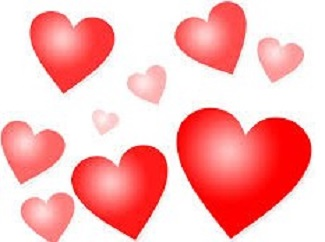 Pink and Red Hearts picture